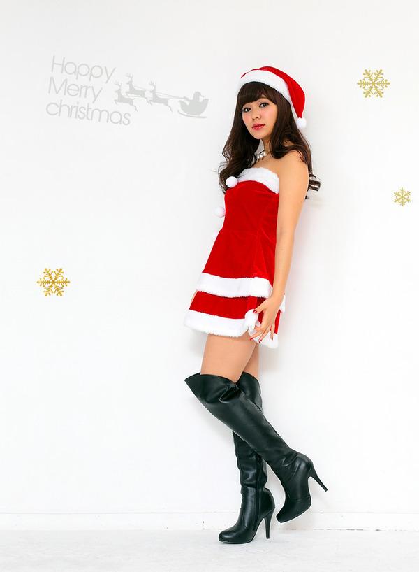 サンタ コスプレ セクシー まとめ買い 【Peach×Peach  エレガントサンタクロース チューブトップ Mサイズ (×5着セット)】 クリスマスコスプレ サンタクロース衣装