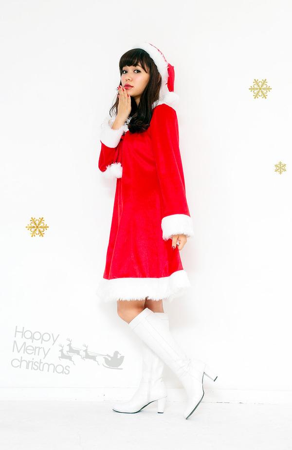 サンタ コスプレ レディース 【Peach×Peach  スイートサンタクロース ワンピース】 サンタ 衣装