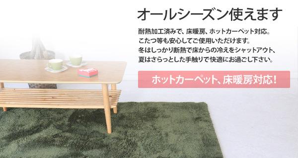 ラグマット 洗える 長方形(100×140cm) ベージュ 【やさしいマイクロファイバーシャギーラグ】 〔北欧風 丸洗い カーペット〕