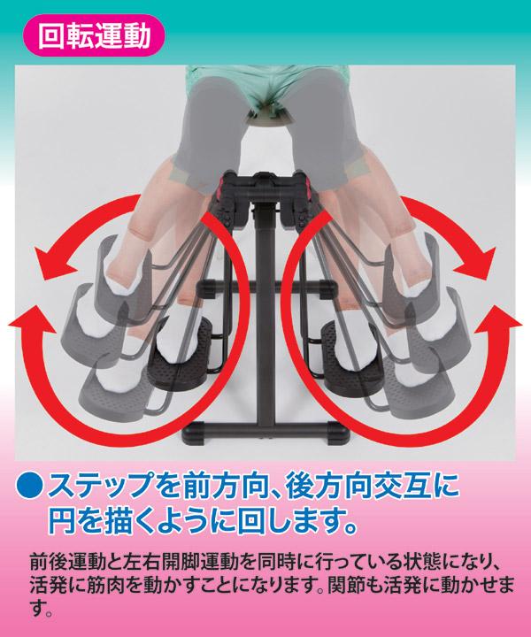 折りたたみフィットネスマシン/アクティブライダ...の説明画像5