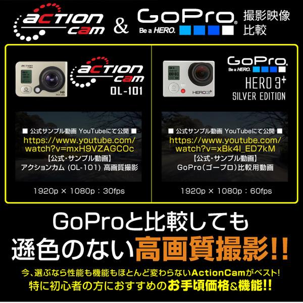 スポーツカム小型ビデオカメラバイク自転車搭載用GoPro(ゴープロ)クラス 1080P 最大60fps WiFi機能