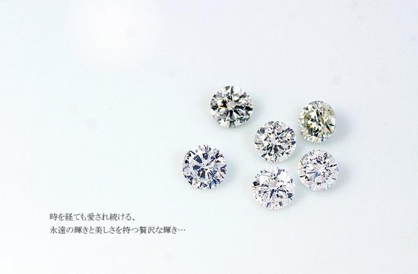 純プラチナ 0.1ctダイヤモンドペンダント/ネックレス スクリューチェーン(鑑定書付き)