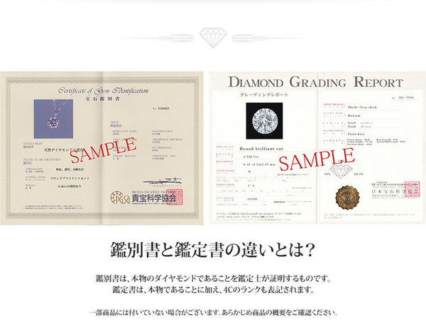 K18 0.1ctダイヤモンドペンダント/ネックレス スクリューチェーン(鑑定書付き)