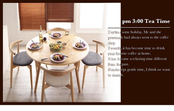 ダイニングセット 5点セット(テーブル+チェ...の説明画像10
