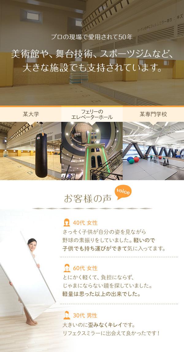 プロ仕様!割れない鏡 【REFEX】リフェクス 姿見 壁掛け対応スタンドミラー W45cm×120cm シャンパンゴールド色 NRM-2/SG 【日本製】