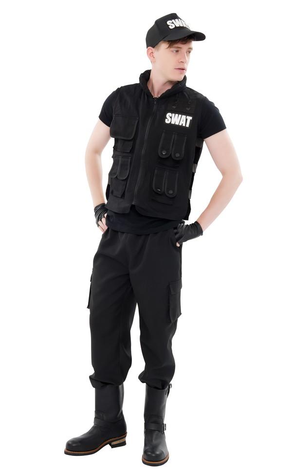 コスプレ衣装/コスチューム 【SWAT型】 メンズ180cm迄 ポリエステル 『New York Wish』 〔イベント〕