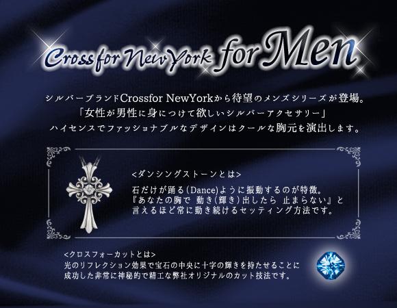 クロスフォーニューヨーク for Men Dancing Stoneシリーズ(ダンシングストーン) Bullet ペンダント NMP-003