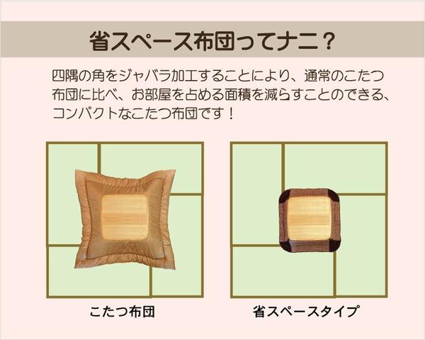 ノルディック柄 こたつ布団 こたつ掛け布団 正方形 省スペース 『カーベル』 ベージュ 約180×180cm