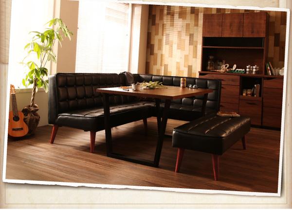 おすすめ!ヴィンテージスタイルデザイン ソファーダイニングテーブルセット【CISCO】シスコ画像12