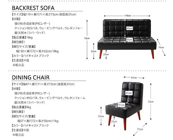 おすすめ!ヴィンテージスタイルデザイン ソファーダイニングテーブルセット【CISCO】シスコ画像25