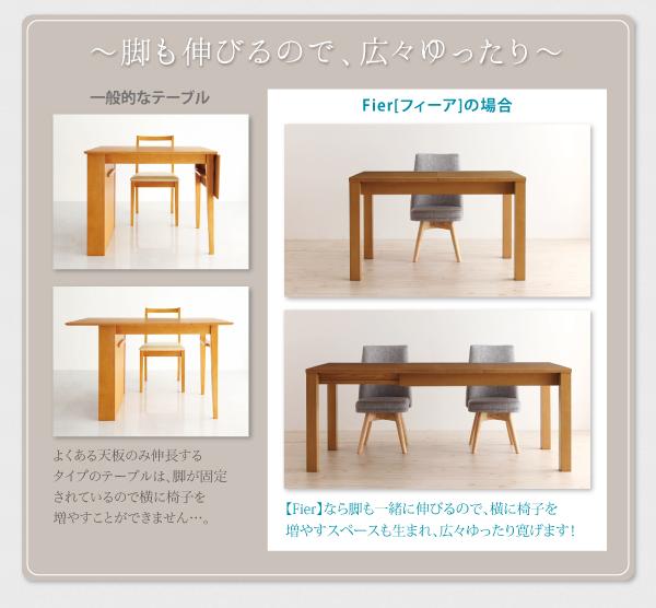 フィーアの伸長後のテーブルの画像
