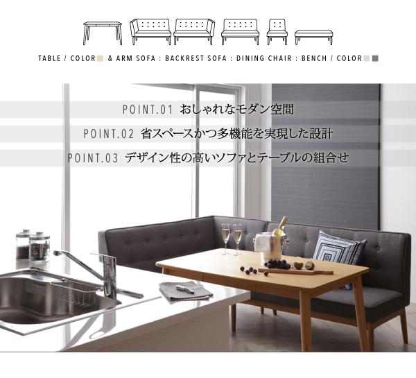 おすすめ!モダンデザイン ソファーダイニングテーブルセット【TIERY】ティエリー画像02