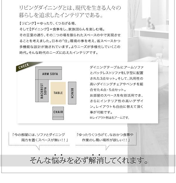 おすすめ!モダンデザイン ソファーダイニングテーブルセット【TIERY】ティエリー画像04