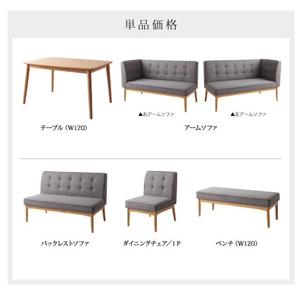 おすすめ!モダンデザイン ソファーダイニングテーブルセット【TIERY】ティエリー画像20