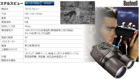 デジタルナイトビジョン(暗視スコープ) ブッシュネル【日本正規品】 ステルスビュー