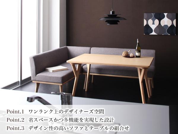 おすすめ!モダンデザイン ソファーダイニングテーブルセット【ARX】アークス画像02