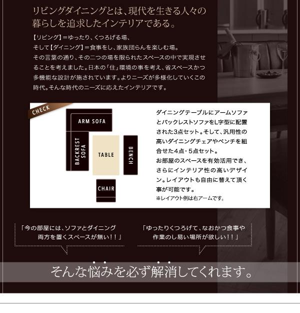 おすすめ!モダンデザイン ソファーダイニングテーブルセット【VIRTH】ヴァース画像04