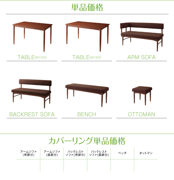 【本体別売】ソファーカバー 足置き(オットマ...の説明画像17