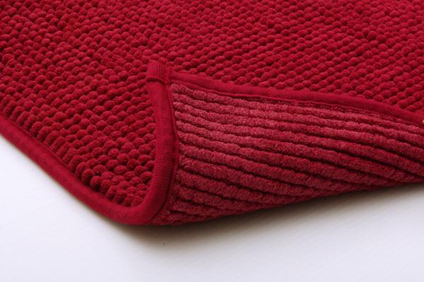バスマット 吸水速乾 洗える 無地 ピンク 約45×60cm 2枚組の商品説明