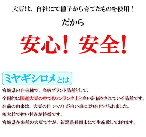 煎り豆(ミヤギシロメ) 無添加 6袋の説明画像4