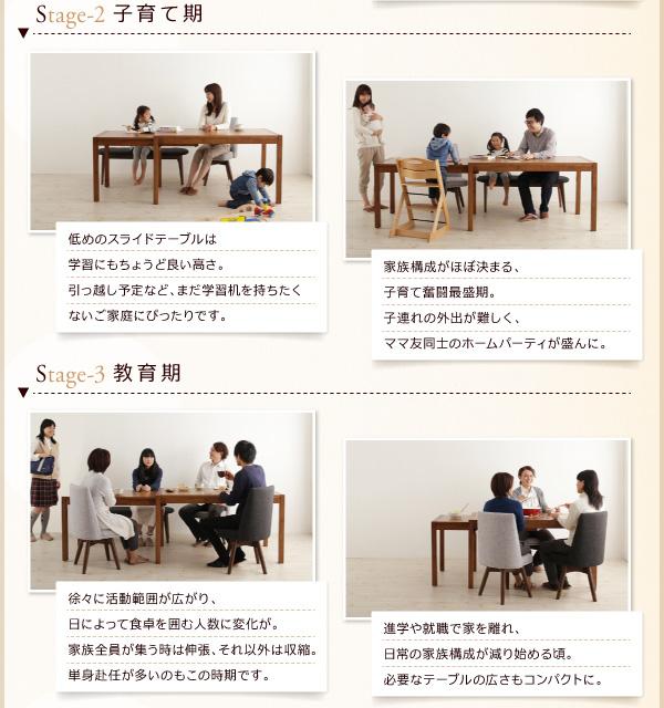 ダイニングセット 4点セット(テーブル+チェア...の説明画像4