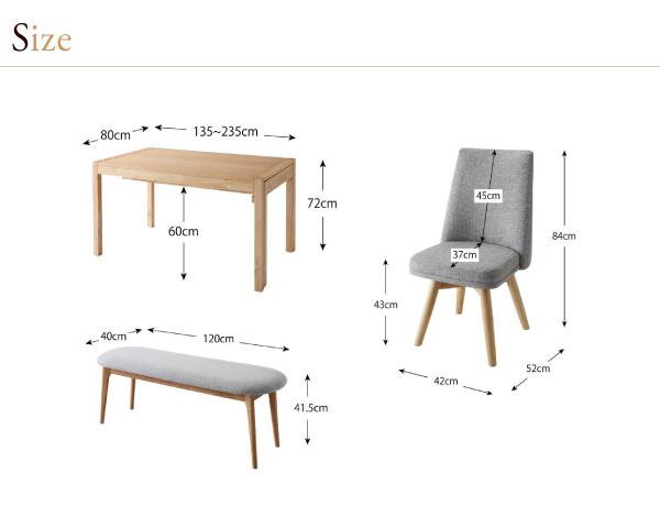 ダイニングセット 4点セット(テーブル+チェ...の説明画像19