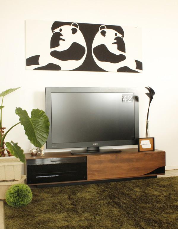 ローボード(テレビ台/テレビボード) 木製 幅150cm 引き出し収納付き ブラウン 【日本製】