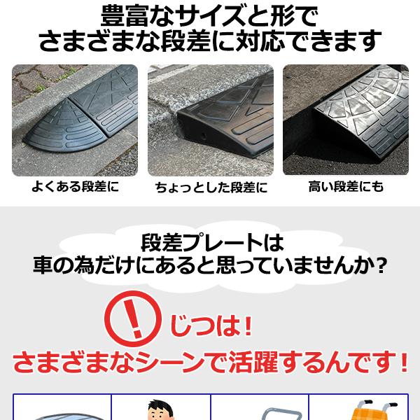 【耐久性に自信アリ】段差スロープ/段差プレート...の説明画像2