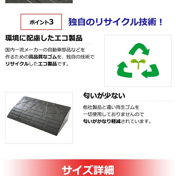 【2個セット】段差スロープ/段差プレート 【コ...の説明画像6