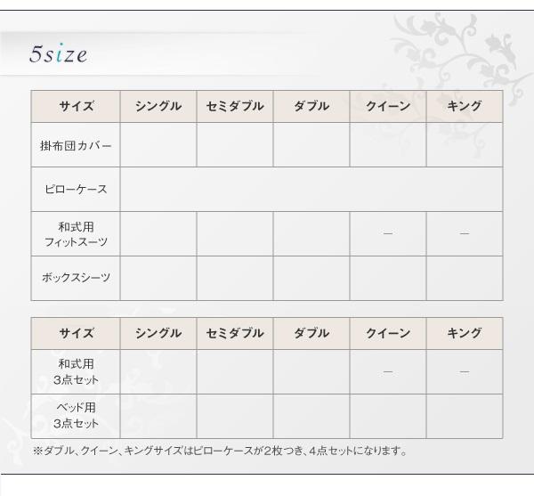 布団カバーセット【和式用】3点セット セミダ...の説明画像12
