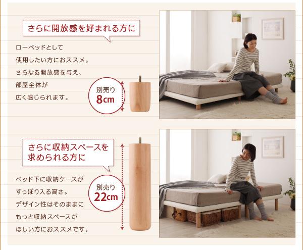 脚付きマットレスベッド キングサイズ【スタンダ...の説明画像9