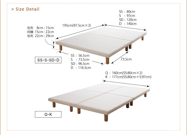搬入・組立・簡単!選べる7つの寝心地!すのこ構造 ボトムベッド画像11