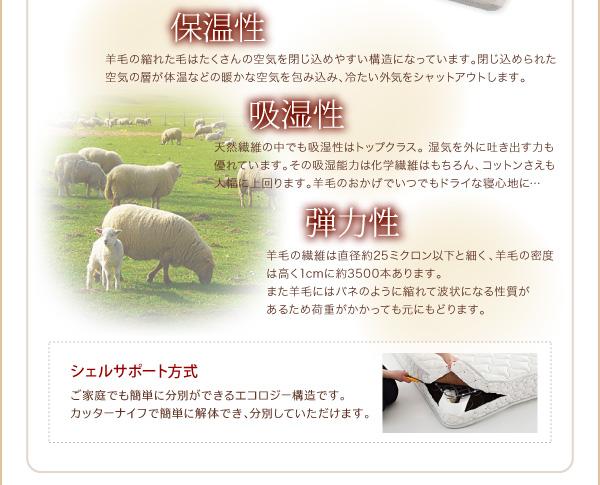 脚付きマットレスベッド キングサイズ【スタン...の説明画像29