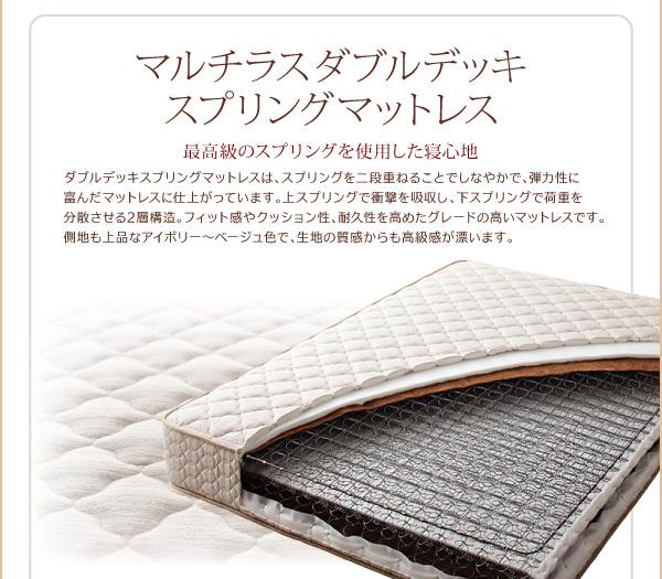脚付きマットレスベッド キングサイズ【スタン...の説明画像30