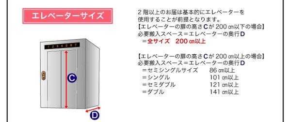 脚付きマットレスベッド キングサイズ【スタン...の説明画像46