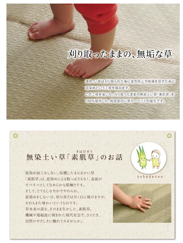 おすすめ!ラグマット 純国産 い草ラグカーペット『F)MUKU』画像02