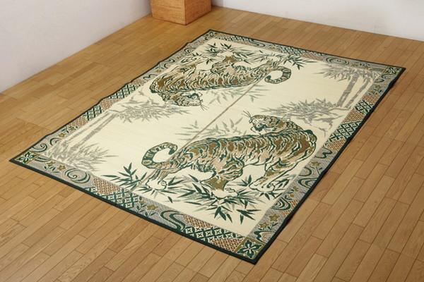 おすすめ!純国産 い草ラグカーペット『虎』約191×250cm 3畳画像09
