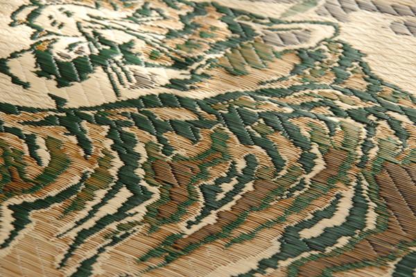 おすすめ!純国産 い草ラグカーペット『虎』約191×250cm 3畳画像10