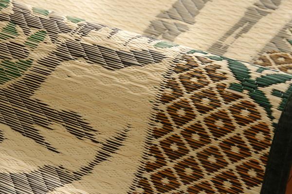 おすすめ!純国産 い草ラグカーペット『虎』約191×250cm 3畳画像11