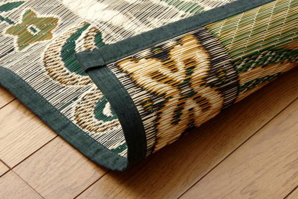 おすすめ!純国産 い草ラグカーペット『虎』約191×250cm 3畳画像12