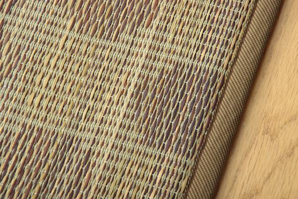 おすすめ!モダン ふっくらボリューム い草ラグカーペット ドット柄『NSPサークル』(裏面:滑りにくい加工)画像11