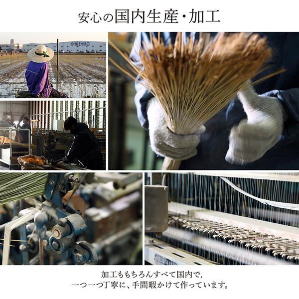 おすすめ!モダンデザイン 純国産 い草花ござカーペット『DX京刺子』(裏:不織布)画像09