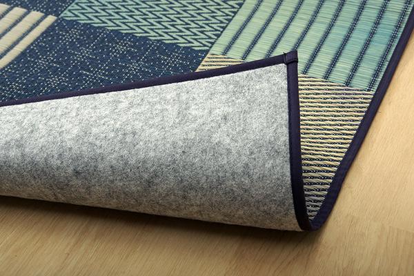 おすすめ!モダンデザイン 純国産 い草花ござカーペット『DX京刺子』(裏:不織布)画像21
