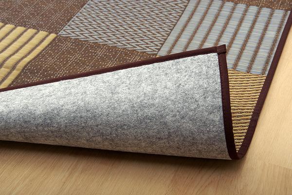 おすすめ!モダンデザイン 純国産 い草花ござカーペット『DX京刺子』(裏:不織布)画像25