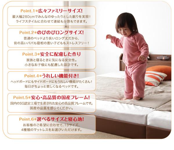 フロアベッド クイーン(セミシングル×2)【J...の説明画像2