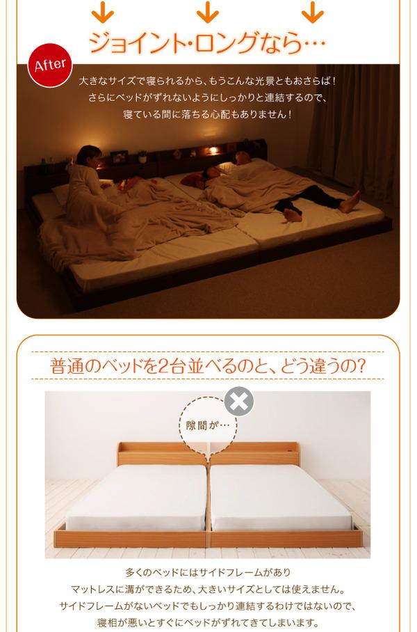 フロアベッド クイーン(セミシングル×2)【J...の説明画像4