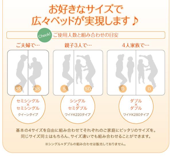 フロアベッド クイーン(セミシングル×2)【...の説明画像17