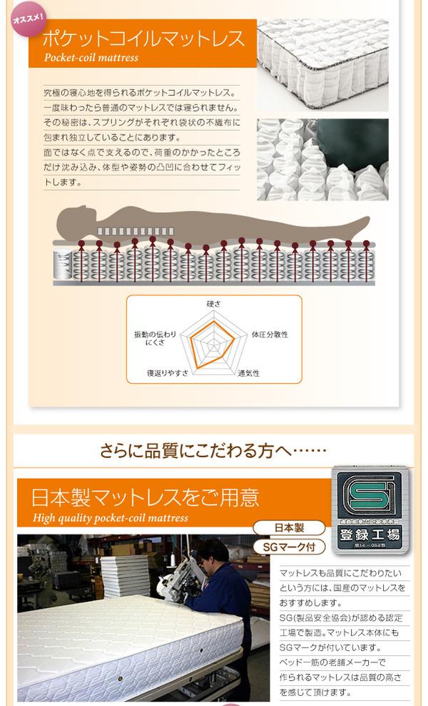 フロアベッド クイーン(セミシングル×2)【...の説明画像20