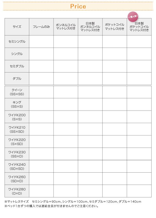 フロアベッド クイーン(セミシングル×2)【...の説明画像22
