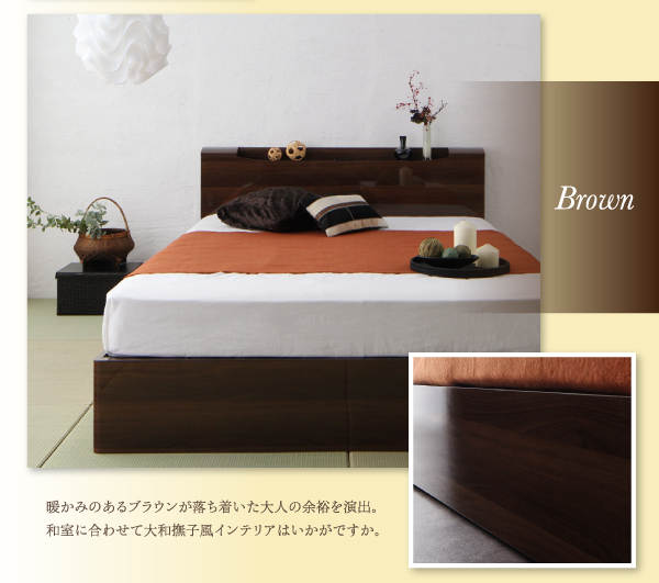 収納ベッド セミダブル【Champanhe】【...の説明画像5